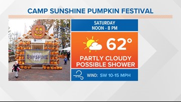 Carve out time on Saturday for Camp Sunshine's annual Pumpkin Festival