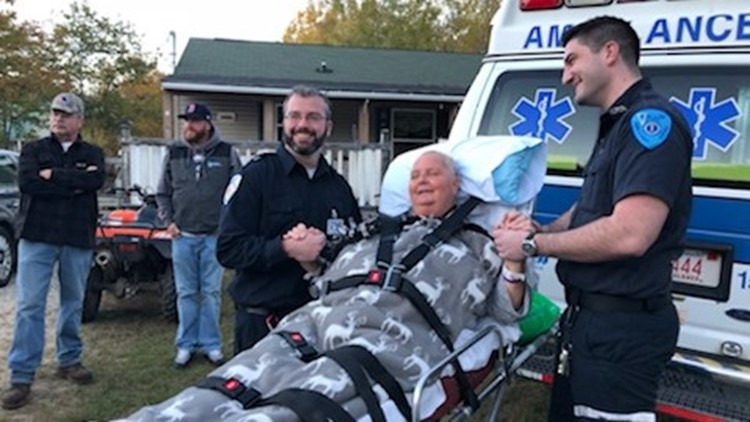 Woman escorted home from hospital by caravan of friends, family