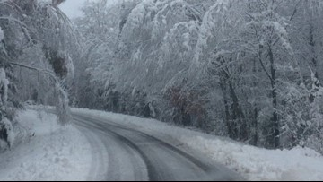 LIST: Oct. 23-24 statewide snowfall totals by county ❄