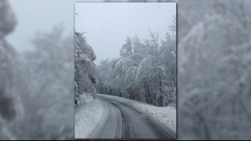 Pre-Halloween snow dumps heavy snow on parts of Maine