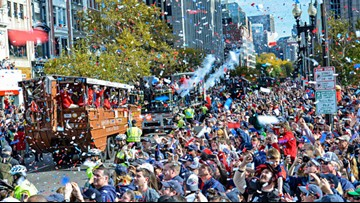 Boston celebrates the Red Sox championship with huge parade