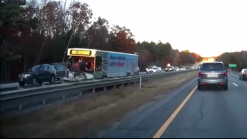 6-vehicle pileup involving metro bus causes I-295 traffic mess