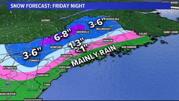 Snow, mix, rain start Friday night, continue into Saturday