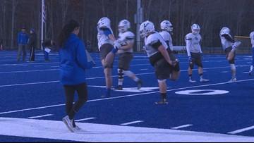 UNE football embraces female coaching intern