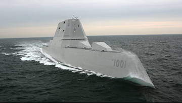 Maine shipyard starts new destroyer as another departs