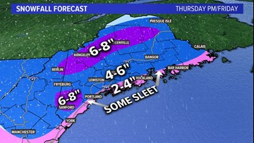 Snow starts late Thursday, continues through Friday