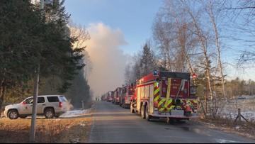 More than a dozen cows killed in barn fire