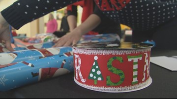 Gift wrapping stations at Maine Mall support blind, visually impaired