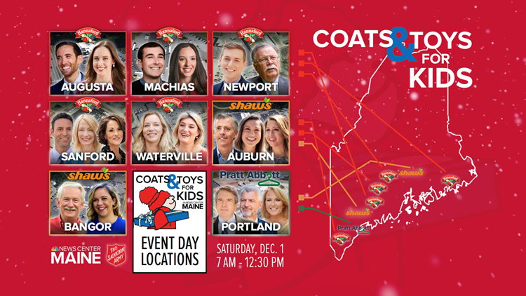 Thank you Maine for making the 36th Coats and Toys for Kids a success