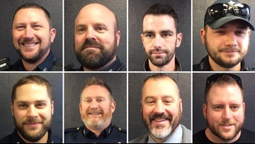 ����Winning by a hair: Augusta Police compete for best beard
