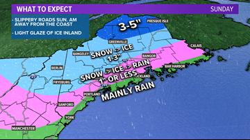 Slippery travel expected Sunday morning   Maine Weather Blog