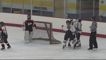 Girls' ice hockey season heating up