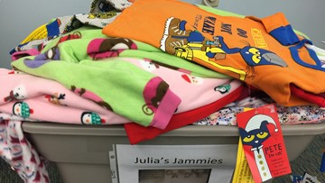 Julia's Jammies: Students collecting pajamas for children at Barbara Bush Hospital