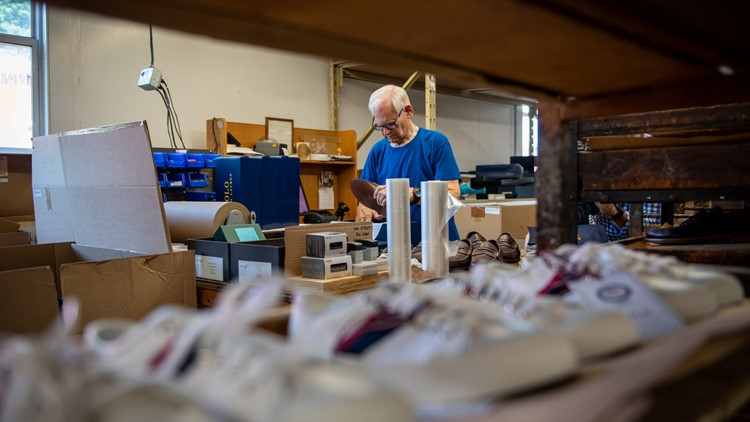 Maine-made Team USA Olympic opening ceremony sneakers made in Lewiston/Auburn