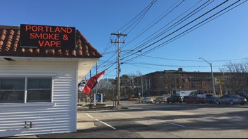 Maine community grapples with issue of vape shop just feet from a school