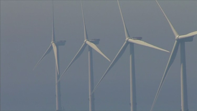 Promise of offshore wind power promoted by Mills, feared by fisherman