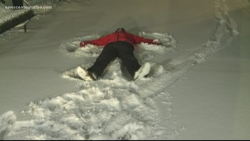 Snow angels from Lewiston with Cory Froomkin