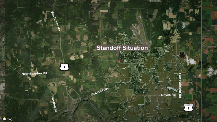 Roads shut down in Caribou due to standoff with police