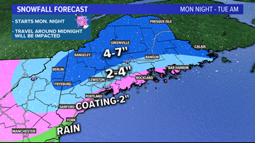 New Year's storm brings Maine snow and a mix | Breton Blog