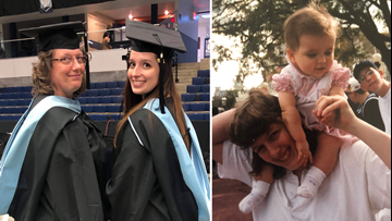 Mother and daughter graduate from UMaine  after taking every class together
