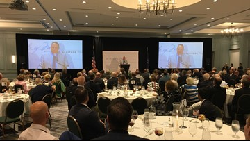 Former Governor LePage welcomes Kentucky's governor at luncheon