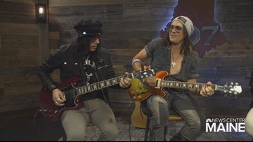 It's a good day in the 207 studio when two musicians for Alice Cooper drop by