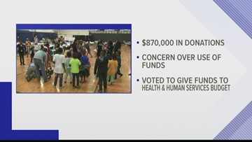 Asylum donations to flow through city budget