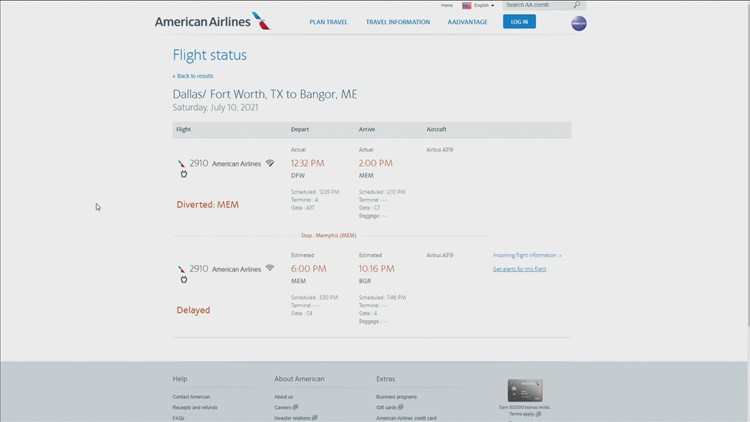 American Airlines flight to Bangor diverted due to possible mechanical issue