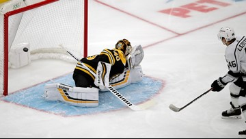 Bruins' bid to get back on the winning track falls apart in final two minutes