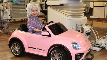 Hospital offers its young patients a toy car ride to surgery