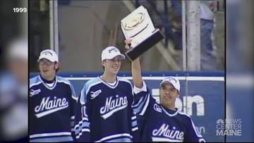 UMaine hockey team holds on-ice celebration - April 6, 1999