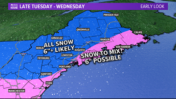Winter storm set for late Tuesday into Wednesday