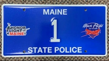 Maine State Police commemorative plate to support Honor Flight Maine