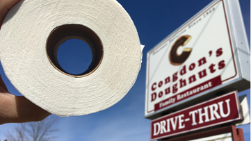 Treats & TP: Maine restaurant owner gives toilet paper away with dozen doughnuts