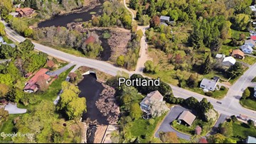 Vehicle hits utility pole, closing Portland street