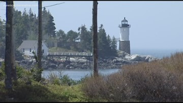 Here's one way to raise money for a Maine lighthouse—swim all the way around it