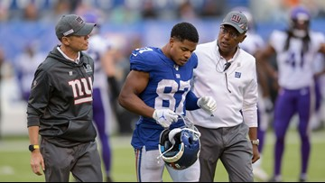 Giants to play Pats in Foxboro down 4 major players