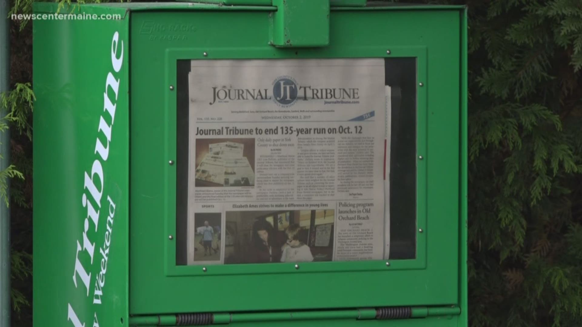 Journal Tribune Newspaper Folds After 135 Years Newscentermaine Com