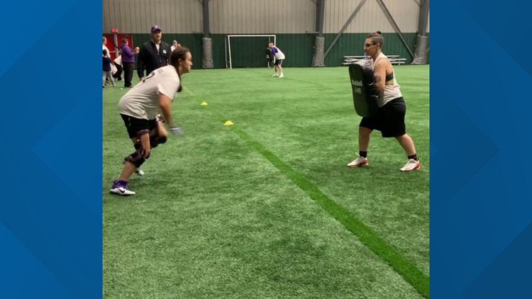 Maine women's football team pushes through stigma