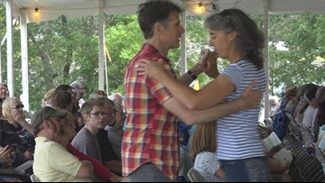 Festival-goers take to the dance floor