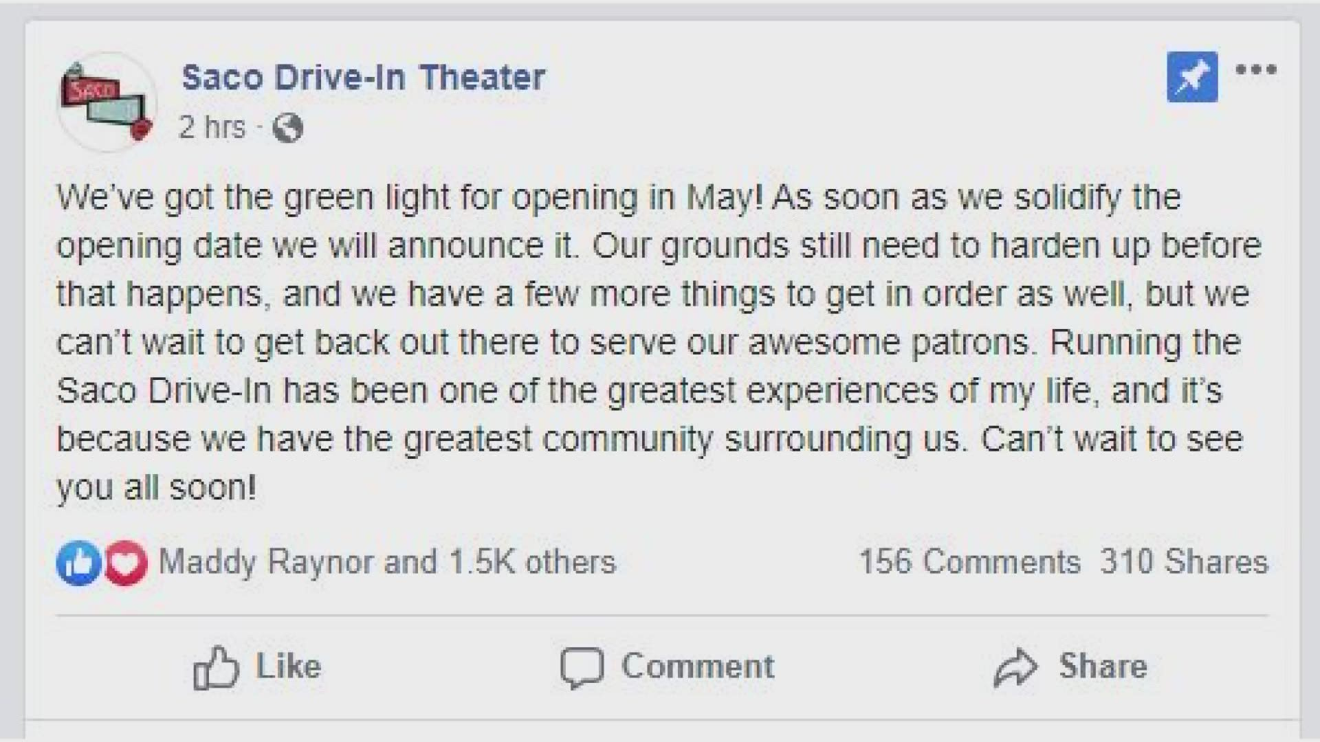 Maine Drive In Theaters Will Be Allowed To Open Amid Coronavirus Newscentermaine Com