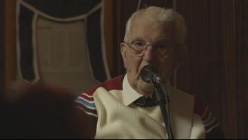 Open mic performer celebrates 100th birthday