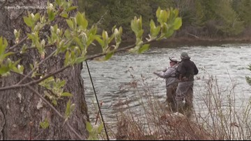 As long as you're social distancing, fishing and other outdoor activities are permitted under Gov. Mills' executive order