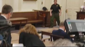 Carol Sharrow arrives in York County Superior Court