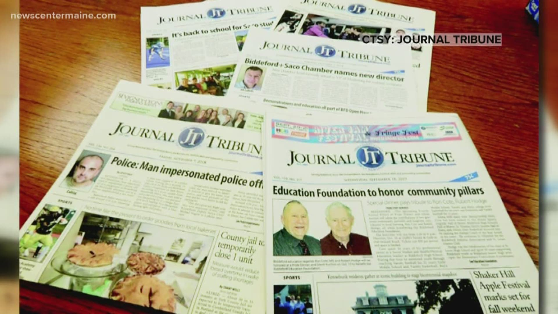 Journal Tribune To Cease Publication After 135 Years Newscentermaine Com