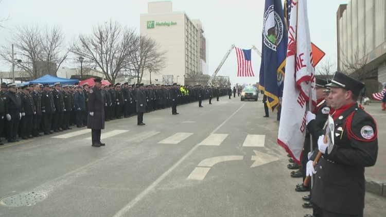 More than 125 Maine fire departments show their respects to Joel Barnes
