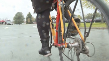 Sloppy spring weather and the Mainers who bike to work