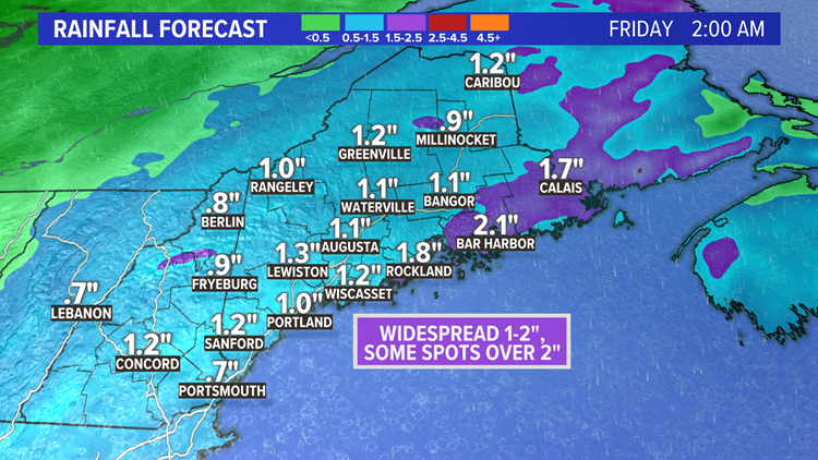 Rain returns Wednesday night, snow unlikely for most in Maine