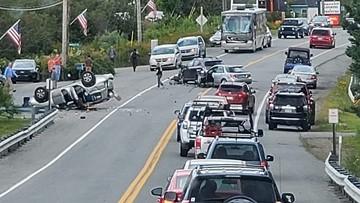 6 escape 3-vehicle Trenton crash with minor injuries