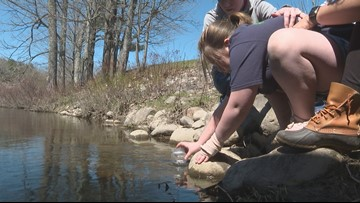 Salmon release program teaches biology, life lessons to 2nd-graders